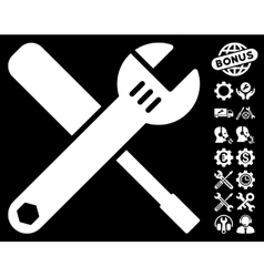 Tools Icon with Tools Bonus vector