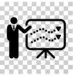 Trends lecture icon vector