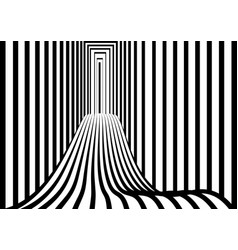 Tunnel or road to infinity geometric black and vector