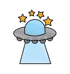 Ufo flying stars saucer technology science vector