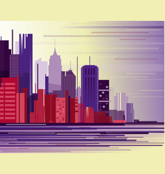 urban industrial city vector image