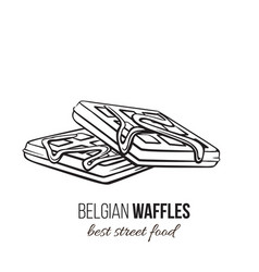 Waffles icon outline vector