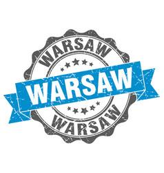 warsaw round ribbon seal vector image