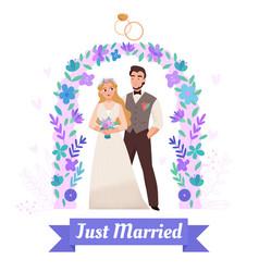 wedding marriage ceremony composition vector image