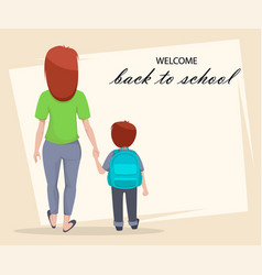 Welcome back to school poster or flyer vector