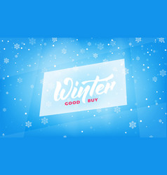 winter sale seasonal banner with winter lettering vector image
