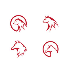 Wolf logo template vector