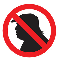 anti president donald trump silhouette sign vector image vector image