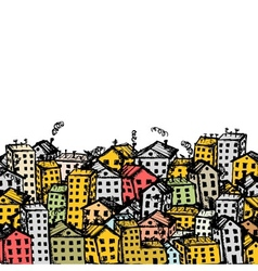 City sketch background for your design vector image vector image