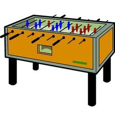 Foosball Table vector image