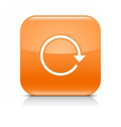 Orange arrow repeat reload refresh rotation icon vector