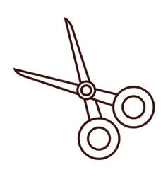scissor cut tool vector image