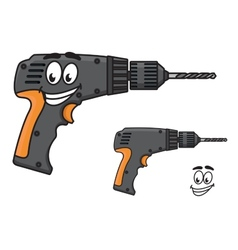 Smiling diy hand drill with a happy face vector