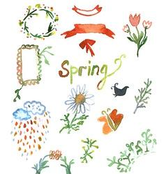 Spring watercolor design vector image vector image
