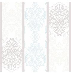 Vintage damask floral ornament pattern vector image