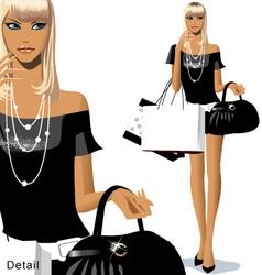 Fashion shopping vector