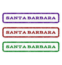 santa barbara watermark stamp vector image