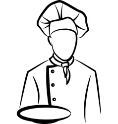 simple with a chef vector image