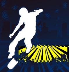 skateboarder grunge poster vector image