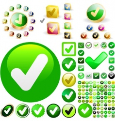 approved vector buttons vector image