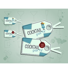 Summer cocktail party sticker and label layout vector image