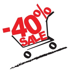 Big sale 40 percentage discount 2 vector
