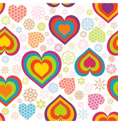heart pattern valentines vector image vector image