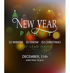 Lettering for New Year Party invitation card vector image vector image