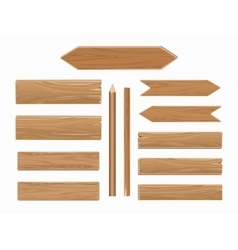 wooden planks isolated on white collection vector image vector image