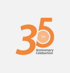 35 th anniversary celebration template design vector