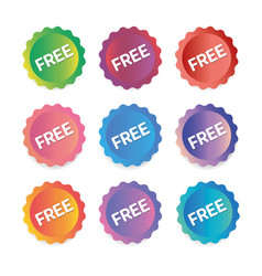 a set of labels banners free vector image