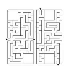 a set of two rectangular labyrinths simple flat vector image
