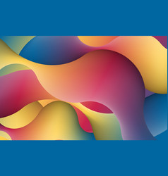 Abstract 3d multicolored shape artistic vibrant vector