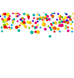abstract confetti background with polka dot vector image