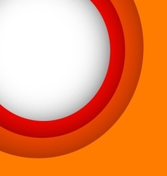Abstract orange background with copy space vector image vector image