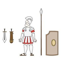 Ancient warrior vector
