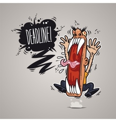 Angry Boss Screaming Deadline vector image