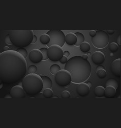 Background holes and circles with shadows vector