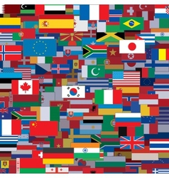 Background made from world flags template vector