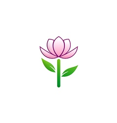 Beauty flower tree logo vector