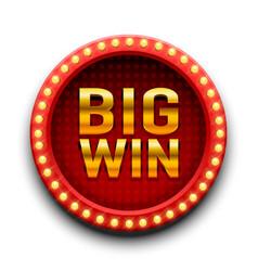 big win casino signboard game banner design vector image