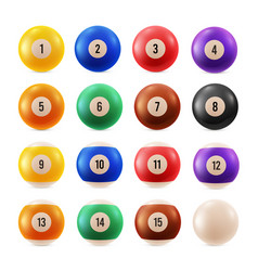 billiard balls multicolored with numbers from zero vector image