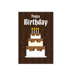 Birthday three cake image vector