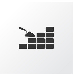 bricklaying icon symbol premium quality isolated vector image