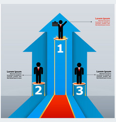 business template with achieving of success vector image