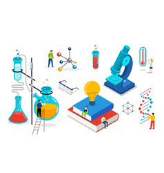 Chemistry lab and school class science education vector