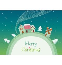 Christmas homes vector