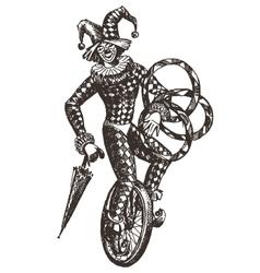 circus logo design template clown or vector image