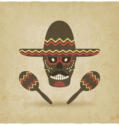 concept for Day of the dead sugar skull in vector image