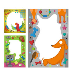 Cute happy birthday border photo frame vector